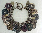 Bracelet: Antique Chinese Coins