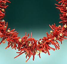 Necklace:Red Branch Coral