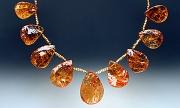 Necklace:Brandy Citrine, 18K gold