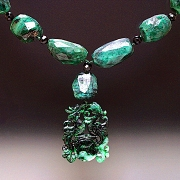 Necklace: Emeralds and Jade